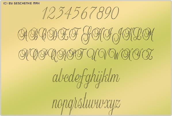 Gravur Schriftart Balmoral 2L