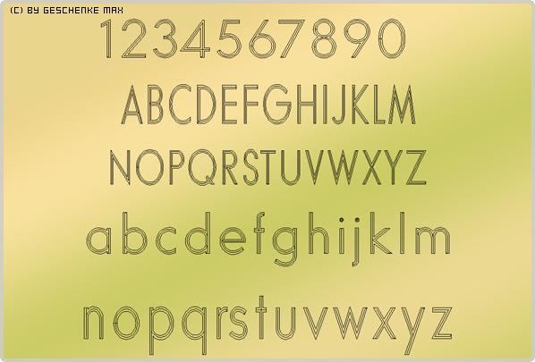 Gravur Schriftart Futura 3L