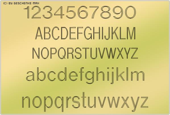 Gravur Schriftart Helvetica 4L