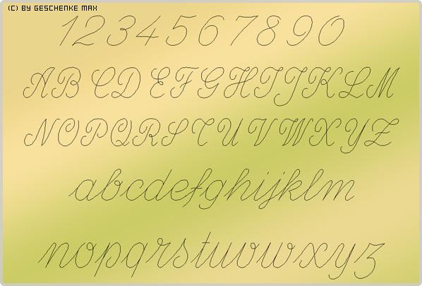 Gravur Schriftart Script 412 1L