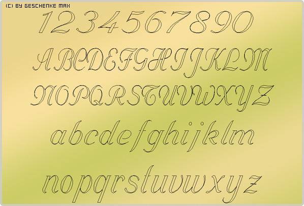 Gravur Schriftart Vanessa 56 2L