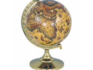 Globus im Messinggestell - Antik-Look Alte Welt - 23cm