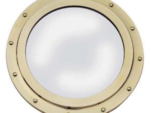 Messing Bullauge mit Spiegel - 30 cm