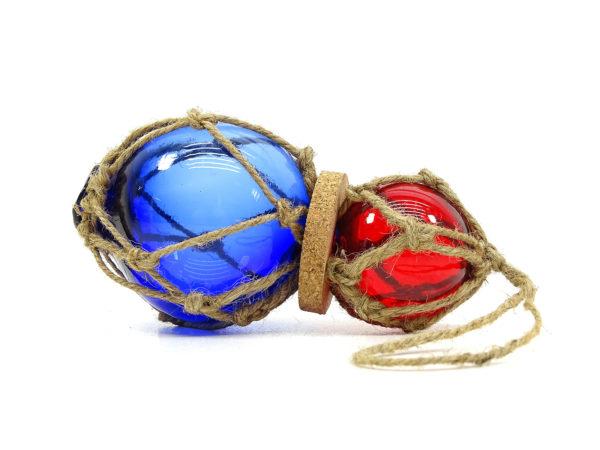 Fischerkugeln 2er Set - Blau & Rot