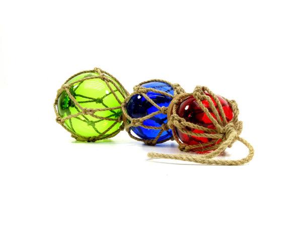 Fischerkugeln 3er Set - Blau, Rot & Grün