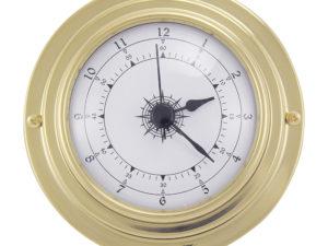 Messing Quarz Uhr im Bullaugen Design - 95mm
