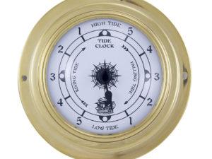 Messing Tide Uhr im Bullaugen Design - 95mm