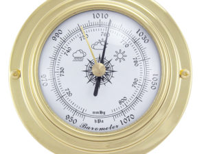Messing Barometer im Bullaugen Design - 95mm