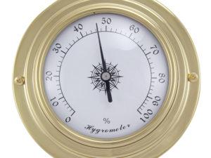 Messing Hygrometer im Bullaugen Design - 95mm
