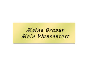 Messingschild inkl. Gravur - 60x20 mm
