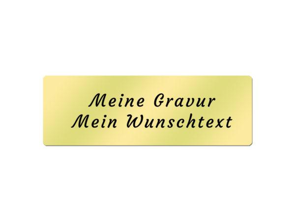 Messingschild inkl. Gravur - 60x20 mm