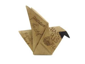 Origami Vogel - Zeitung Frankreich Paris
