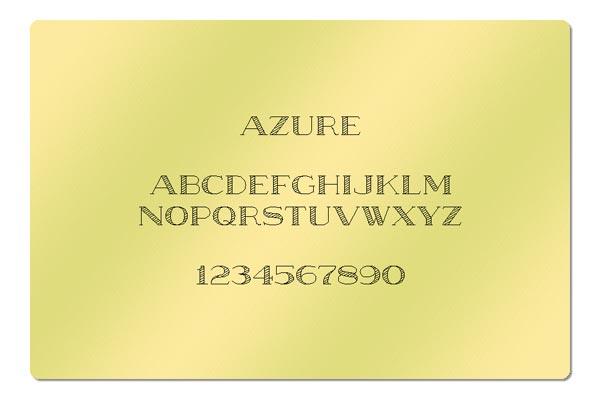 Gravur Schrift Azure