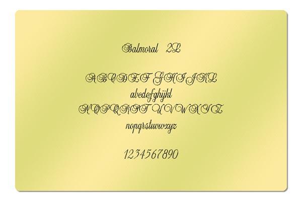 Gravur Schrift Balmoral 2L