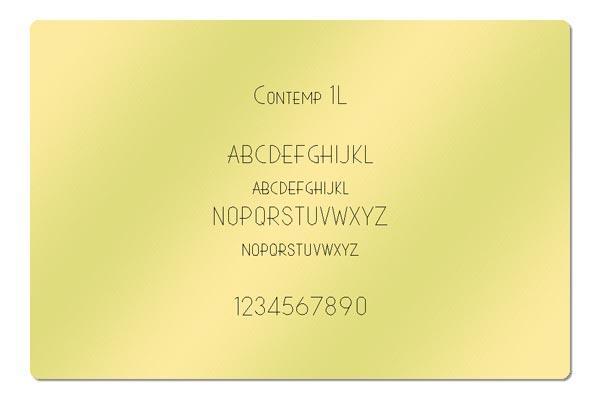 Gravur Schrift Contemp 1L