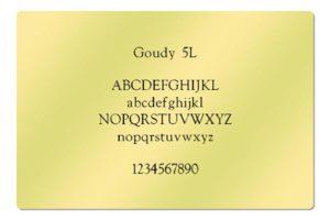 Goudy 5L