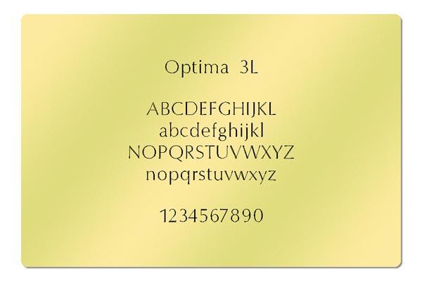 Gravur Schrift Optima 3L