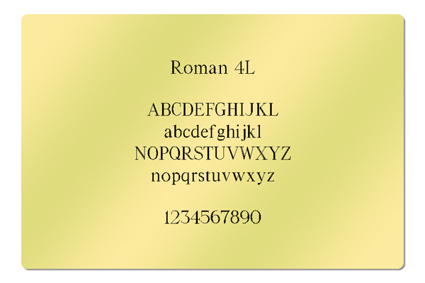 Gravur Schrift Roman 4L