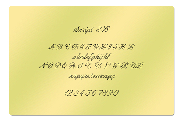 Gravur Schrift Script 2L