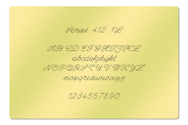 Gravur Schrift Script 412 1L