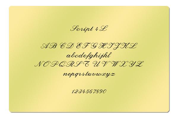 Gravur Schrift Script 4L