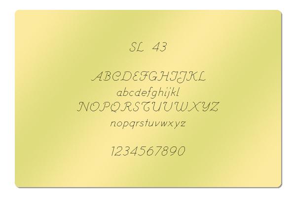 Gravur Schrift SL 43