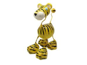 Tiger Katze - Pappmache - Gelb - XL - Skulptur - Kunst